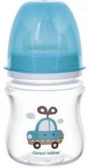 Бутылочка Canpol EasyStart Toys шир. горл., антикол., PP, 3+, 120 мл, арт. 35/220, цвет голубой