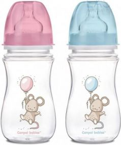 Бутылочка Canpol EasyStart Little cuties PP, шир. горл., антикол., 240 мл, 3+, арт. 35/219
