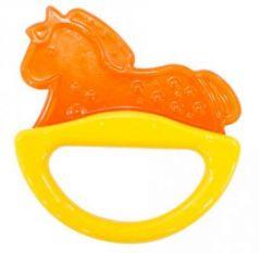 Погремушка с эластичным прорезывателем Canpol арт. 13/107, 0+ мес., цвет желтый, форма лошадка