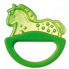 Погремушка с эластичным прорезывателем Canpol арт. 13/107, 0+ мес., цвет зеленый, форма лошадка