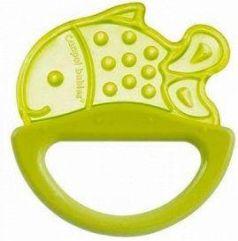Погремушка с эластичным прорезывателем Canpol арт. 13/107, 0+ мес., цвет желтый, форма рыбка