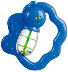 Погремушка Canpol Улитка/бабочка, 0+ мес., арт. 2/874, цвет: синий, форма: бабочка