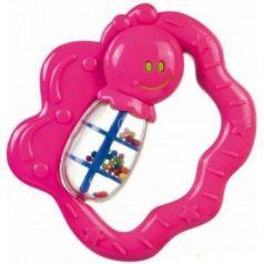 Погремушка Canpol Улитка/бабочка, 0+ мес, арт. 2/874, цвет: розовый, форма: бабочка