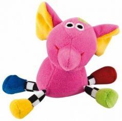 Погремушка Canpol Сумасшедшие животные арт. 2/284, 0+, форма: слон, цвет: розовый