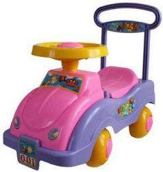 Каталка-беговел четырёхколёсный Совтехстром АВТОМОБИЛЬ-КАТАЛКА розово-фиолетовый У447