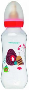 Бутылочка Bebe Confort Classic серия Bee Fantasy PP, лат. соска для супов и каш, 360 мл, 6-24 мес.,