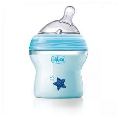 Бутылочка Chicco Natural Feeling сил. соска с наклоном, норм. поток, PP, 0+, 150 мл, blue 310205207