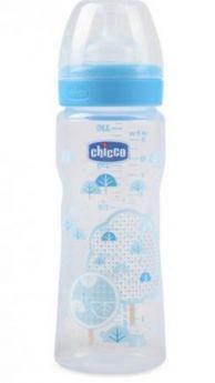 Бутылочка Chicco Well-Being Boy 4 мес.+, сил. соска, быстрый поток, РР, 330 мл 310205011