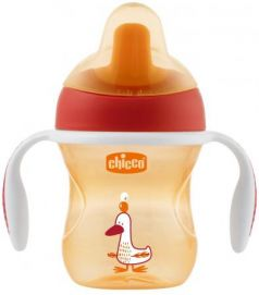 Поильник Chicco Training Cup (полужесткий носик), 1 шт., 6 мес+, 200 мл, цвет красный, 340624119