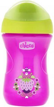 Поильник Chicco Easy Cup (носик ободок), 1 шт.,12 мес+, 266 мл., розовый, рис. клубничка, 340624120