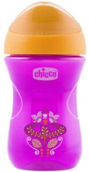 Поильник Chicco Easy Cup (носик ободок), 1 шт.,12 мес+, 266 мл., розовый, рис. цветочек, 340624220