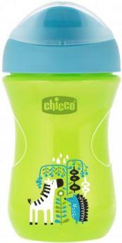 Поильник Chicco Easy Cup (носик ободок), 1 шт.,12 мес+, 266 мл., цвет зел., рис. зебра, 340624121