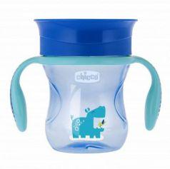 Чашка-поильник Chicco Perfect Cup (носик 360), 12 мес.+, 266 мл, цвет голубой