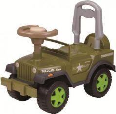 Каталка-машинка Наша Игрушка Шериф пластик от 2 лет на колесах зеленый LBL608BC/GR