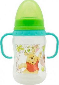 """Бутылочка для детского питания """"Медвежонок Винни"""" с силиконовой соской и ручками"""