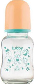 """Бутылочка для кормления с соской молочной """"Малыши и Малышки"""", от 0 мес., 120мл.,стекло, силикон"""