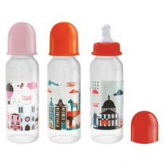 """Бутылочка с соской """"Я люблю"""", от 0 мес., 250 мл., классика, полипропилен, силикон"""