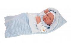 5015B Кукла-младенец Нестор в голуб., 42 см