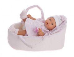 1114P Кукла Лана в корзине, плач., 27 см