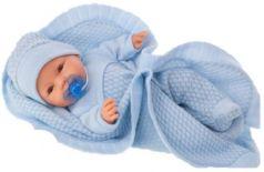 1446B Кукла Гектор в голубом, плач, 37 см