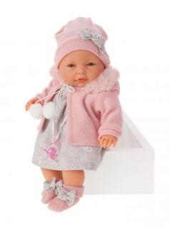 1448P Кукла Хуана в розовом, плач. 37 см