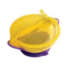Тарелка Lubby Классика 1 шт от 6 месяцев желтый 13952