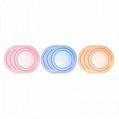 Тарелка Tommee Tippee Набор плоских тарелочек для начала кормления 3 шт от 1 года синий 00-0015516