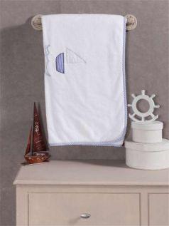 "Плед велсофт ""Blue Marine"", 100% полиэстер, размер 80*120 см"