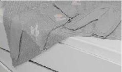"""Набор вязанный с аппликацией """"Мишка"""" U14-04 95*120 см на 86 см, пряжа 100% акрил"""