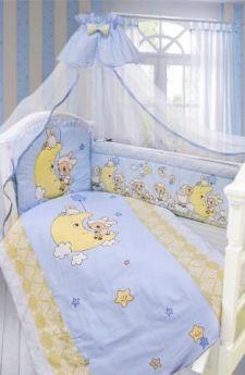 "Комплект в кроватку 7 пр.""Овечка на Луне"""