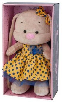 Мягкая игрушка заяц Jack Lin Зайка в Желтом Платье 25 см искусственный мех трикотаж пластмасса