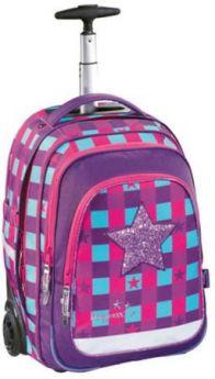 Ранец на колесах Step by Step BaggyMax Trolley 40 л розовый фиолетовый
