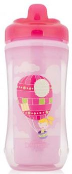 Контейнер Dr.Brown's Чашка-термос 300 мл 1 шт от 1 года розовый 00-0008309