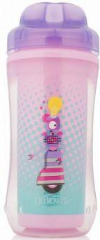 Контейнер Dr.Brown's Чашка-термос 300 мл 1 шт от 1 года фиолетовый УТ-0000151