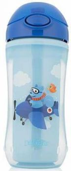 Контейнер Dr.Brown's Чашка-термос 300 мл 1 шт от 1 года синий УТ-0000153