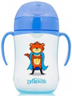 Кружка Dr.Brown's Супергерой 1 шт от 9 месяцев синий ТС91025