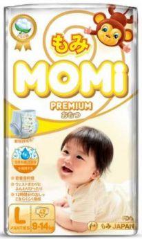 Подгузники-трусики MOMI Premium L (9-14 кг) 42 шт