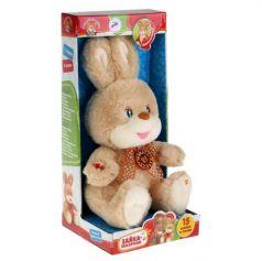 Мягкая игрушка заяц МУЛЬТИ-ПУЛЬТИ ЗАЙКА 25 см бежевый текстиль пластик ST0055X