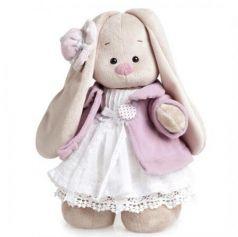 Зайка Ми в фиолетовом пальто и белом платье