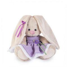 Мягкая игрушка BUDI BASA SidX-182 Зайка Ми в фиолетовом платье с цветочком (малыш)
