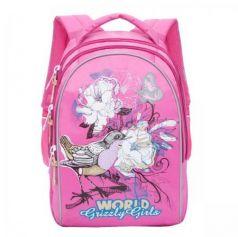 Рюкзак GRIZZLY RG-868-2/1 Птицы (розовый)