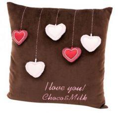 Подушка Choco Сердечки