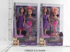 Кукла 29см + манекен для создание прически с аксесс. WX28-4 в кор. в кор.2*36шт