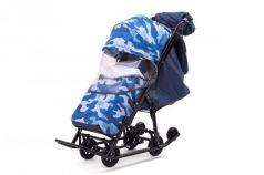 Санки-коляска  Compact Military, цвет синий, Pikate