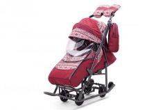 Санки-коляска  Скандинавия, цвет бордо, Pikate