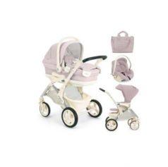 Модульный сет Orso: люлька, прогулочный блок, автокресло-переноска и сумка, цвет 712 розовый, CAM