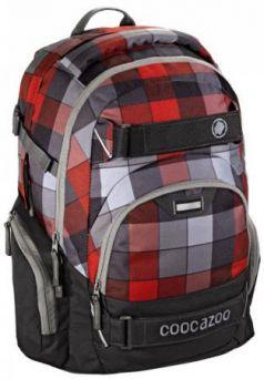 Рюкзак Coocazoo CarryLarry2 Red District серый/красный