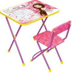 Комплект стол+стул Ника Познайка 2 Маленькая принцесса