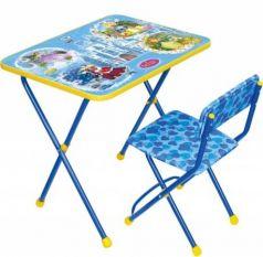 Комплект стол+стул Ника Познайка 2 Волшебный мир принцесс