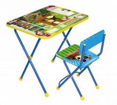 Комплект стол+стул Ника Познайка 2 Позвони мне Маша и Медведь